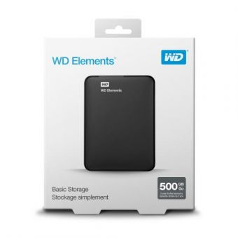 WD Elements Portable External 500GB HDD