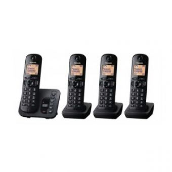 Panasonic KX-TGC224EB DECT Call Block TAM - Quad