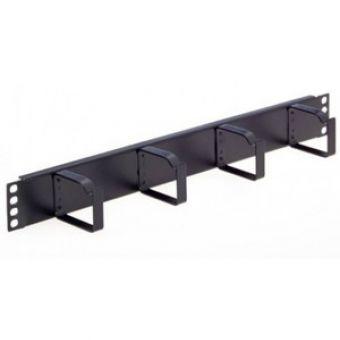1U Bar Cable Management Bar 4 Vertical Metal Hoops