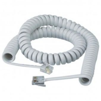 8m curly handset cord