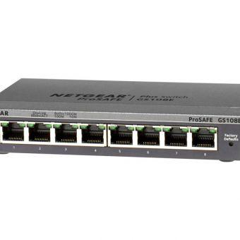NETGEAR Plus GS108Ev3 8 Port 10/100/1000 Switch